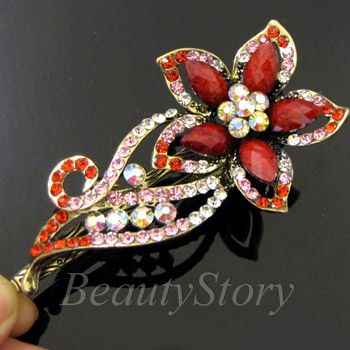 ADDL Item  antiqued rhinestone crystals flower hair