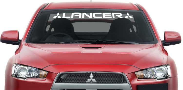 Mitsubishi Lancer Windshield Banner Decal Logo 36x3