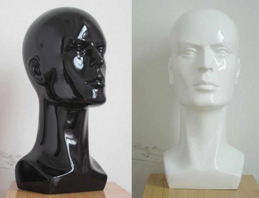 Male black or white or silver Mannequin Head for Display cap hat wig