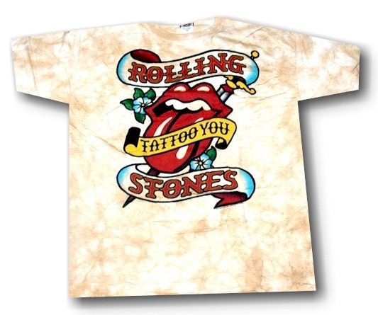 The Rolling Stones TIE DYE Classic TONGUE Shirt LARGE